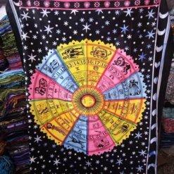"""Zodiac Tapestry Multi Color 84"""" x 54"""""""