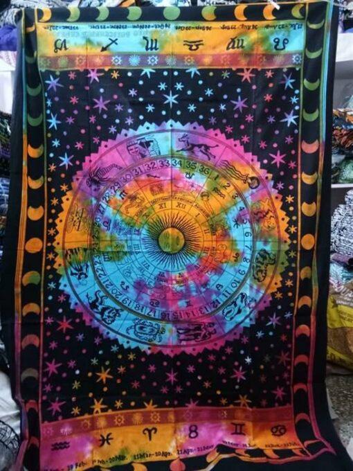 Zodiac Tapestry Tie dye